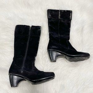 DANSKO Suede Leather Black Tall Boots SZ 36